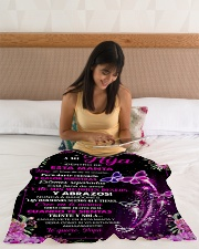 "A Mi Hija Small Fleece Blanket - 30"" x 40"" aos-coral-fleece-blanket-30x40-lifestyle-front-12"