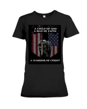 A Warrior of Christ Premium Fit Ladies Tee thumbnail