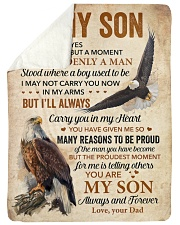 """I Closed My Eyes For But A Moment Eagle Dad To Son Large Sherpa Fleece Blanket - 60"""" x 80"""" thumbnail"""