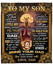 """Once Upon A Time Was A Little Boy Dad To Son Fleece Blanket - 50"""" x 60"""" front"""