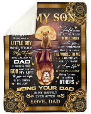 Once Upon A Time Was A Little Boy Dad To Son Sherpa Fleece Blanket tile