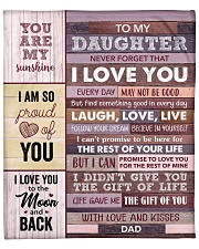 "Never Forget That I Love You - Dad To Daughter Large Fleece Blanket - 60"" x 80"" thumbnail"