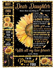"""Dear Daughter More than Anything in This World Large Fleece Blanket - 60"""" x 80"""" front"""