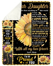 Dear Daughter More than Anything in This World Sherpa Fleece Blanket tile