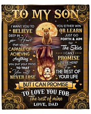 """I Want U To Believe In Your Heart Dad To Son Fleece Blanket - 50"""" x 60"""" front"""