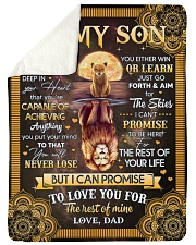 """I Want U To Believe In Your Heart Dad To Son Large Sherpa Fleece Blanket - 60"""" x 80"""" thumbnail"""