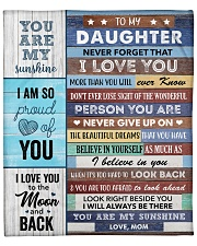 "To my Daughter Never Forget That I Love U Fleece Blanket - 50"" x 60"" front"