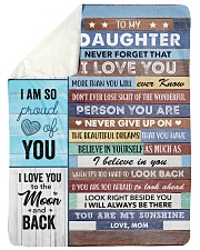 "To my Daughter Never Forget That I Love U Large Sherpa Fleece Blanket - 60"" x 80"" thumbnail"
