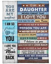 To my Daughter Never Forget That I Love U - Dad Fleece Blanket tile