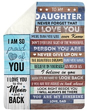 To my Daughter Never Forget That I Love U - Dad Sherpa Fleece Blanket tile