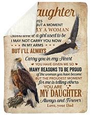 """I Closed My Eyes For But A Moment Dad To Daughter Large Sherpa Fleece Blanket - 60"""" x 80"""" thumbnail"""
