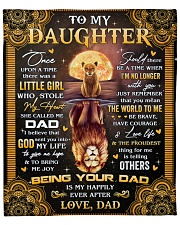"""Once Upon A Time Was A Little Girl Dad To Daughter Fleece Blanket - 50"""" x 60"""" front"""