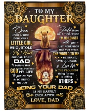 Once Upon A Time Was A Little Girl Dad To Daughter Fleece Blanket tile