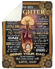 """Once Upon A Time Was A Little Girl Dad To Daughter Large Sherpa Fleece Blanket - 60"""" x 80"""" thumbnail"""