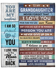 "To my Granddaughter Never Forget That I Love U Fleece Blanket - 50"" x 60"" front"