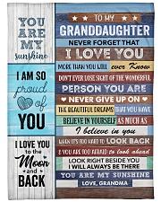 To my Granddaughter Never Forget That I Love U Fleece Blanket tile