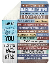 """To my Granddaughter Never Forget That I Love U Large Sherpa Fleece Blanket - 60"""" x 80"""" thumbnail"""