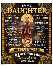 "I Want U To Believe In Your Heart Dad To Daughter Fleece Blanket - 50"" x 60"" front"