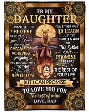 I Want U To Believe In Your Heart Dad To Daughter Fleece Blanket tile