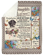 """Inside This Blanket There Is Piece Mom To Daughter Large Sherpa Fleece Blanket - 60"""" x 80"""" thumbnail"""