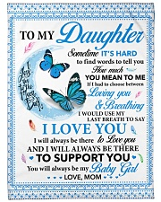 To my Daughter Sometime it's hard to find words Fleece Blanket tile