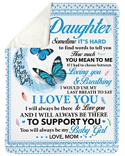 To my Daughter Sometime it's hard to find words Sherpa Fleece Blanket tile