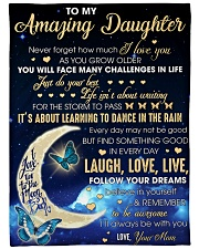 """To my Amazing Daughter Never Forget I Love U Large Fleece Blanket - 60"""" x 80"""" front"""