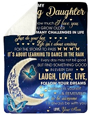 """To my Amazing Daughter Never Forget I Love U Large Sherpa Fleece Blanket - 60"""" x 80"""" thumbnail"""