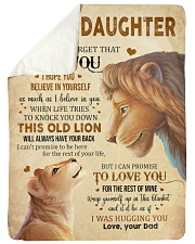 """Never Forget That I Love You Dad To Daughter Large Sherpa Fleece Blanket - 60"""" x 80"""" thumbnail"""