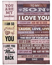 Never Forget That I Love You - Dad To Son Fleece Blanket tile