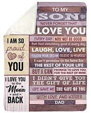 "Never Forget That I Love You - Dad To Son Large Sherpa Fleece Blanket - 60"" x 80"" thumbnail"