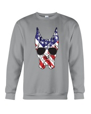 Great Danes American Flag - Happy 4th of July Crewneck Sweatshirt thumbnail