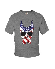 Great Danes American Flag - Happy 4th of July Youth T-Shirt thumbnail