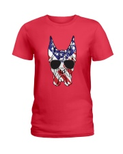 Great Danes American Flag - Happy 4th of July Ladies T-Shirt front