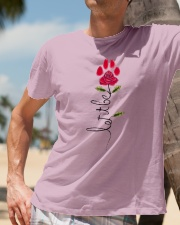 Let It Be Rose - Dog Paw Classic T-Shirt lifestyle-mens-crewneck-front-11