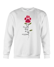 Let It Be Rose - Dog Paw Crewneck Sweatshirt thumbnail
