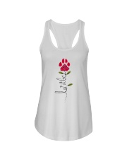 Let It Be Rose - Dog Paw Ladies Flowy Tank thumbnail