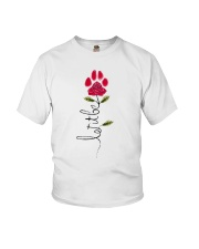 Let It Be Rose - Dog Paw Youth T-Shirt thumbnail