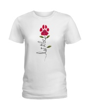 Let It Be Rose - Dog Paw Ladies T-Shirt thumbnail