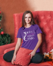 Love Is In The Hair Ladies T-Shirt lifestyle-holiday-womenscrewneck-front-2