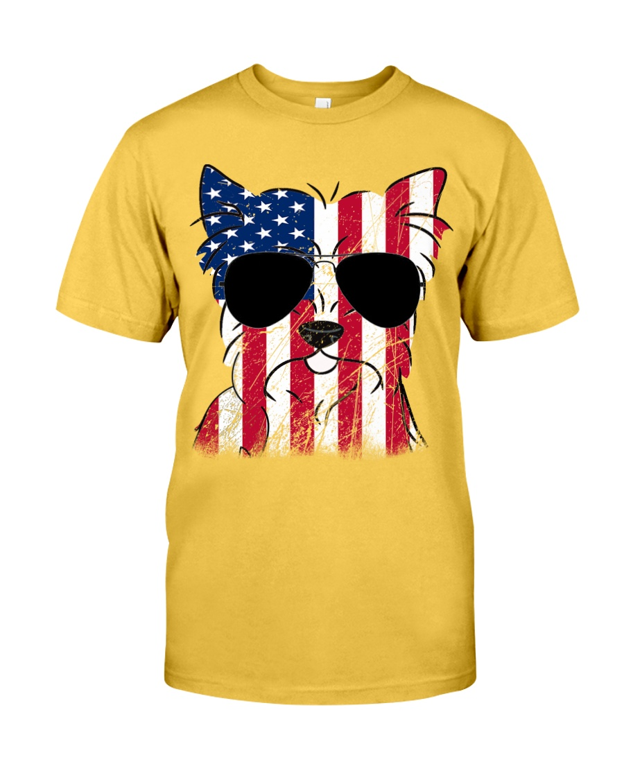 Yorkshire Terrier Mom - Happy 4th of July Classic T-Shirt