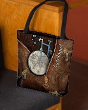 Cycling Leather Pattern Print All-over Tote aos-all-over-tote-lifestyle-front-02