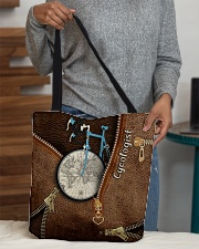 Cycling Leather Pattern Print All-over Tote aos-all-over-tote-lifestyle-front-10