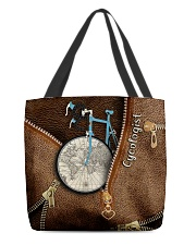 Cycling Leather Pattern Print All-over Tote front