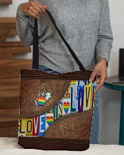 Love is love All-over Tote aos-all-over-tote-lifestyle-front-10