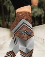 Dragonfly Leather Pattern Print  High Waist Leggings aos-high-waist-leggings-lifestyle-11