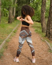 Dragonfly Leather Pattern Print  High Waist Leggings aos-high-waist-leggings-lifestyle-17