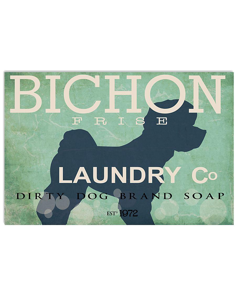 Bichon Frise laundry company 17x11 Poster