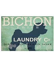 Bichon Frise laundry company 17x11 Poster front