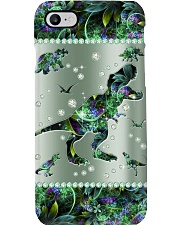 Dinosaur Metal Pattern Print Phone Case i-phone-8-case
